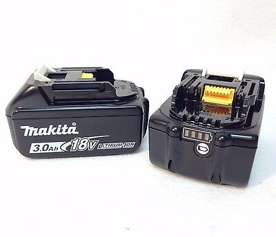 2 GENUINE Makita BL1830B NEW 18V 18 Volt LXT Lithium-Ion 3.0 Ah Battery