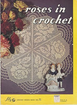 Lily Crochet Design Book No. 71 Roses in Crochet vintage patterns