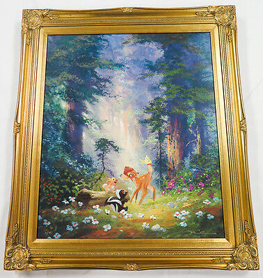 A New Discovery BAMBI Huge Framed LE Giclee James Coleman SIGNED Disney COA