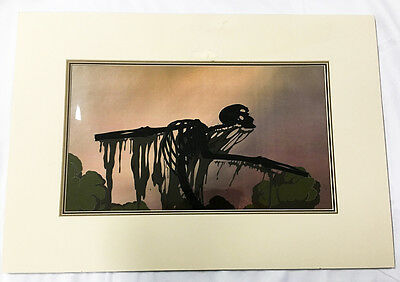 HUGE 1992 FernGully MOVIE Original Animation Art Production Cel Hexxus COA