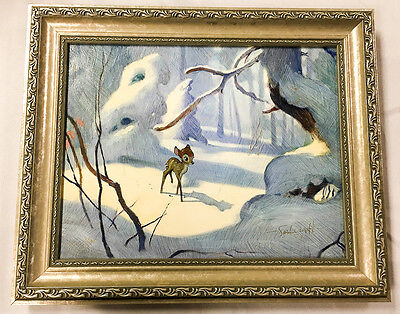 Stunning BAMBI Framed Limited Edition Giclee Art Jim SALVATI Alone in the Woods