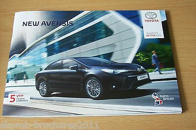 TOYOTA - The New Avensis Sales Brochure 1/2016.