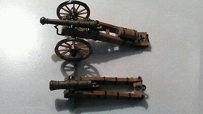 Miniture Civil War ? model Cannon with carriage - non firing