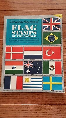 1953 Golden Play Book of Flag Stamps of the World Simon & Schuster