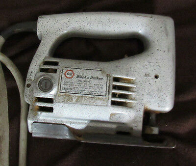 Silver Black & Decker Jig Saw No. 7510 Volts 120 AC Amps H/P 1/7 Type 1 WORKING