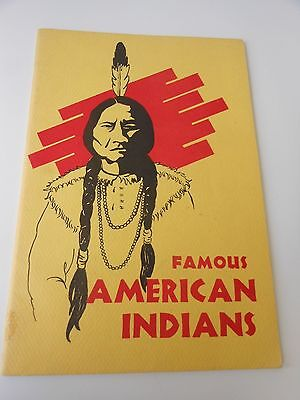Famous American Indian Chief  Book Brant Pontiac Osceola Museum Press 1976