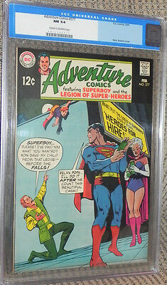 Adventure #377 CGC 9.4 Near Mint Superboy Legion of Super-Heroes/LSH