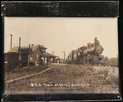 "2x3"" Steam Train Historical Photo MAGNET B&O Locomotive at Valley Junction Lunch"