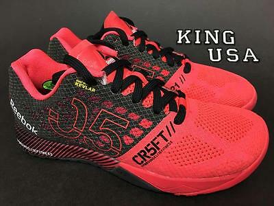 Women's Reebok CrossFit Nano 5.0 Cross Training Shoes Neon Cherry