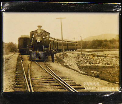"2x3"" Steam Train Historical Photo MAGNET O&W railway Valley Junction NY"