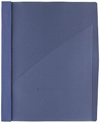 Wilson Jones Frosted Front Report Covers w/ Pocket 3-Hole Punched Dark Blue 5 Co