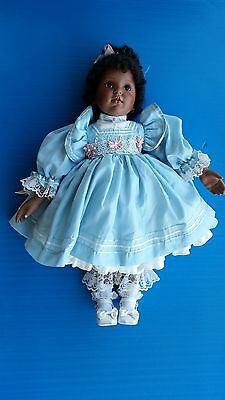 """AA black African American doll Donna Rubert Porcelain BABY 23"""""""