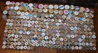 260 + Vintage Sewing Thread Spools Different Sizes & Mfg. Crafts Display