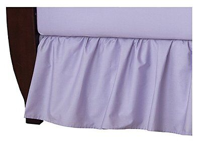 American Baby 100pct Cotton Percale Ruffle Crib Skirt Lavender Crib Bed Skirt