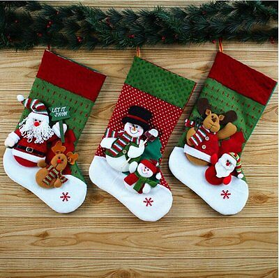 Personalised Embroidered Christmas Santa Snowman Reindeer Stocking desige by you