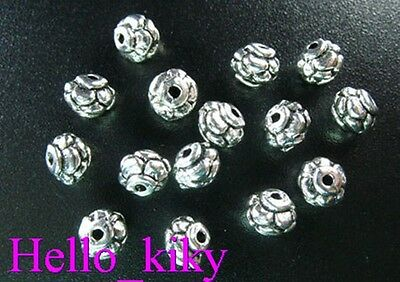 150Pcs dark Silver tone top spacer beads H0700