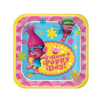 Trolls Movie Party Supplies - Party Pack for 16 - Plates, Napkins & Cups