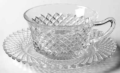 Anchor Hocking MISS AMERICA CLEAR Cup & Saucer 6095