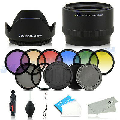 UV CPL FLD Graduated Filters Stack Cap Lens Adapter for Canon PowerShot G15 G16