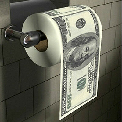 US Dollar Money Toilet Paper Towel Tissue Roll Bathroom Money toilet roll WEAR