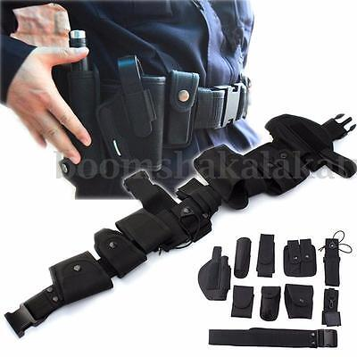 Tility Kit Tactical Belt with 9 Pouches for Police Guard Security AU STOCK