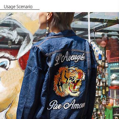 19x19cm Tiger Head Embroidered Applique Iron Sew on Patch Jacket Jean Badge DIY