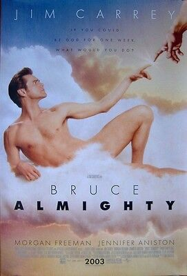 Bruce Almighty (2003) Original D/S Int Regular One-Sheet Poster, Jim Carrey
