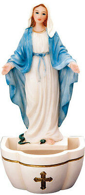 Virgin Mary Our Lady Holy Water Font & Statue Candles Pictures Crucifixes Listed
