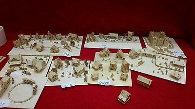 9 x Bastelset KIT H36 houses landscape figuras scale 1/1000 TOP10 for tiny train