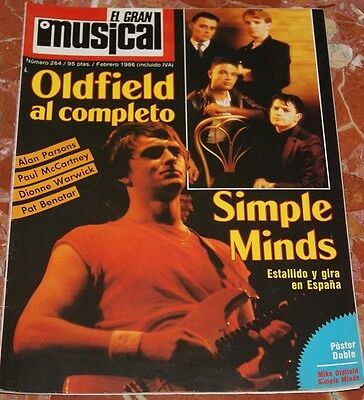 El Gran Musical Magazine 1986 Mike Oldfield+Sandra And Michael Cretu+Simple Mind