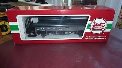 Lgb - G Scale  Flat Bed Tram - With Pipe Load - Boxed In Good Condition (40230)
