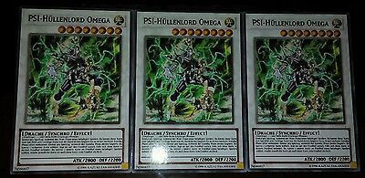 3x PSI Hüllenlord Omega ,Common, Orica, Proxy Version yugioh. Playset