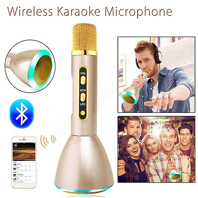 Wireless KTV Microphone Bluetooth Portable Handheld Music Player For Smartphone