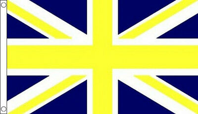 8' x 5' BLUE and YELLOW UNION JACK FLAG Sport Team Club