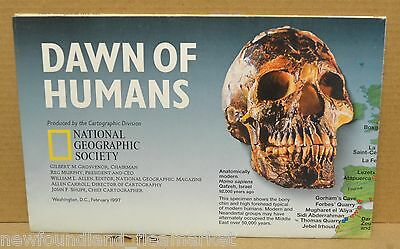 Dawn of Humans 1997 National Geographic Magazine Folded Map