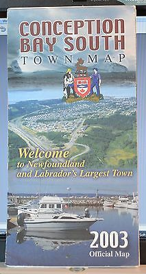 CBS Conception Bay South Newfoundland 2003 Folded Town Map