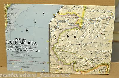 Eastern South America 1962 National Geographic Magazine Folded Map
