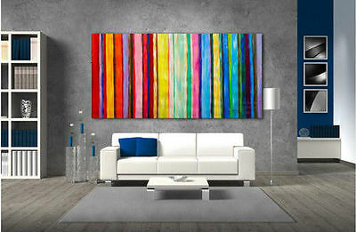 Modern Abstract Hand-painted Oil painting on canvas Home Decor Colourful