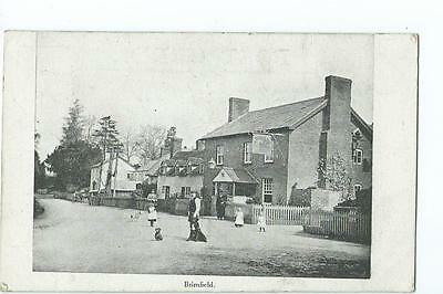 Herefordshire printed view by Leominster News of Brimfield  village PU 1921?