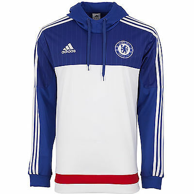adidas Performance Chelsea Football Club Hooded Hoodie Jumper Sweatshirt - XS