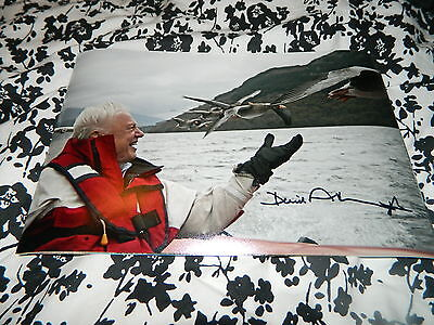 Sir David Attenborough Signed Bbc Life Wildlife Photo Planet Earth 12 X 8 Nature