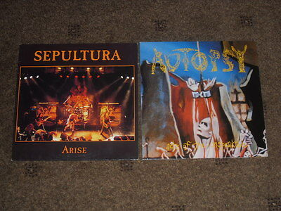 SEPULTURA - ARISE & AUTOPSY - ACTS OF THE UNSPEAKABLE - DEATH METAL RECORDS 90's