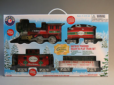 LIONEL LARGE SCALE NORTH POLE CENTRAL READY TO PLAY TRAIN SET steam 7-11729 NEW
