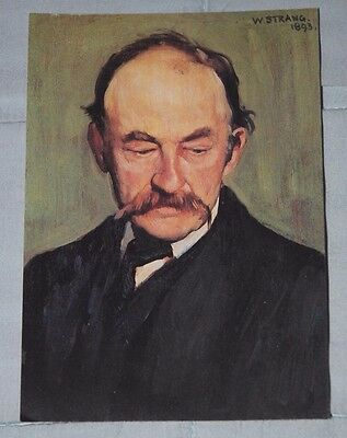 Postcard - Thomas Hardy, Portrait by William Strang, National Portrait Gallery