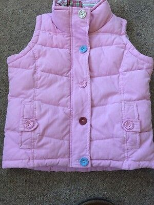 Little Joules Girl Winter Pink Gillet size 6yrs