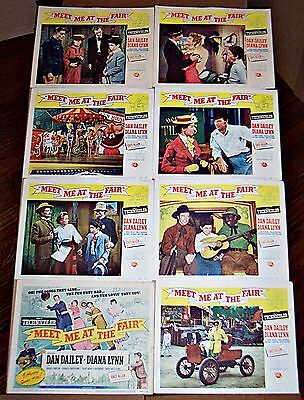 Meet Me At The Fair (1953) Dan Dailey Musical * Great Orig 8 Card Lobby Set