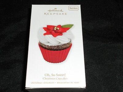 NEW Hallmark 2010 CHRISTMAS CUPCAKES Oh So Sweet Ornament 1st Cupcake in Series