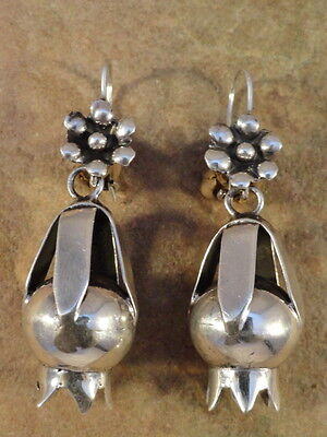 Mexican Mexico Sterling Silver Frida Squash Earrings