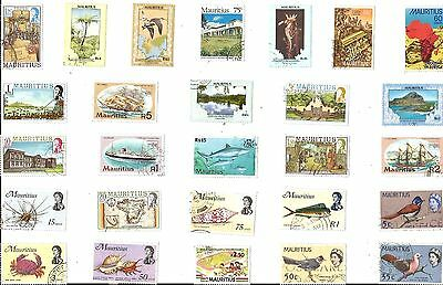 A Selection Of 27 Good/fine Used Stamps From Mauritius
