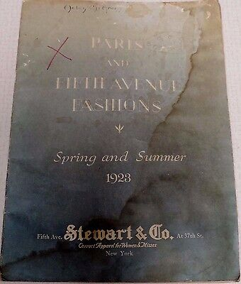 Vintage 1923 Paris & Fifth Avenue Fashions Spring & Summer Stewart & Co Catalog